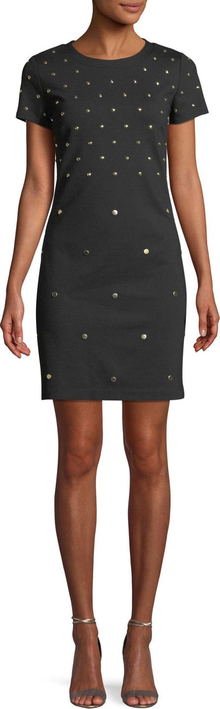 MICHAEL MICHAEL KORS Short-Sleeve Studded Shift Dress
