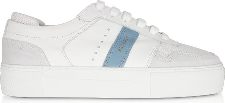 Axel Arigato Detailed Platform White/Dusty Blue Leather Women's Sneakers