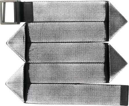 132 5. Issey Miyake Double buckle belt