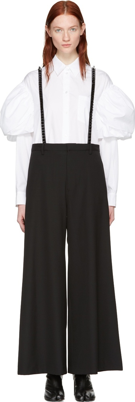 Noir Kei Ninomiya Black Studded Suspender Trousers