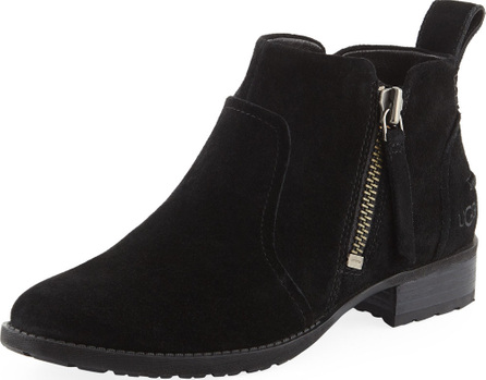 UGG Aureo Suede Ankle Booties, Black