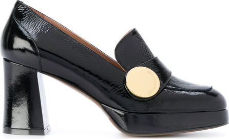 L'Autre Chose textured loafer pumps