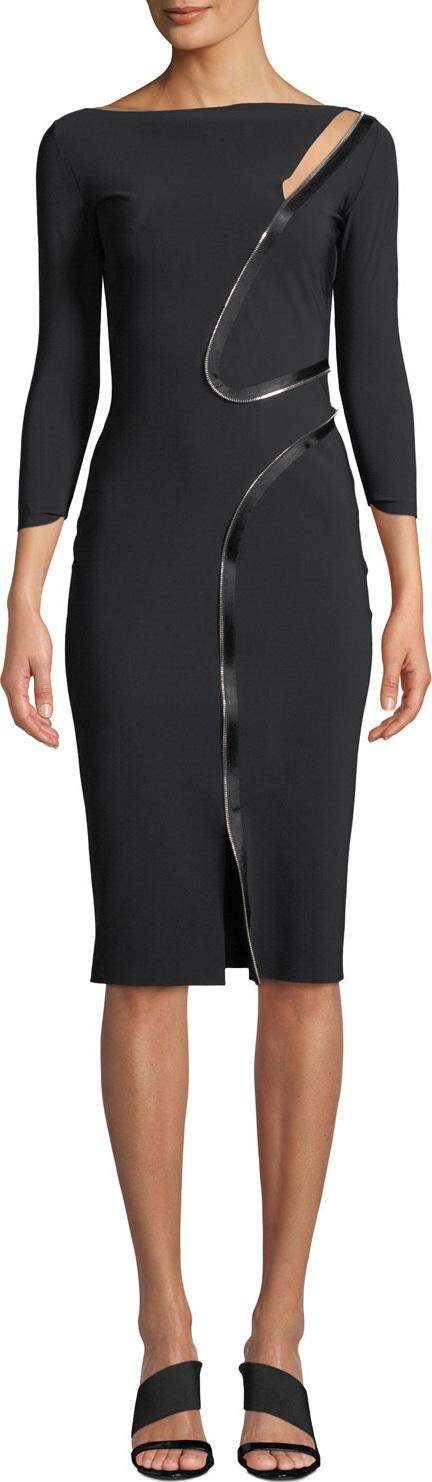 La Petite Robe di Chiara Boni Asymmetric-Zip Body-Con Dress