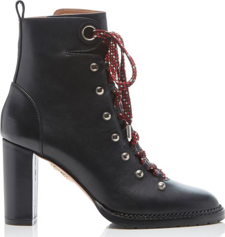 Aquazzura Hiker Leather Ankle Boots