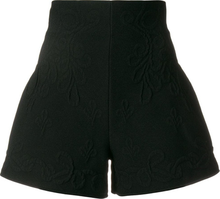Alexander McQueen Floral embossed shorts