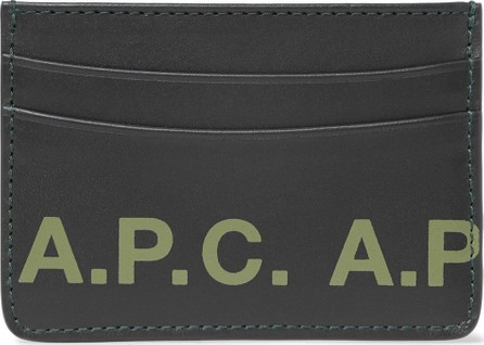 A.P.C. Andre Logo-Print Leather Cardholder