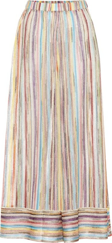 Missoni Metallic knit wide-leg pants