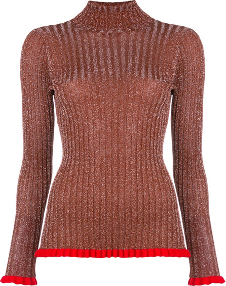 Chloe Frilled turtleneck jumper