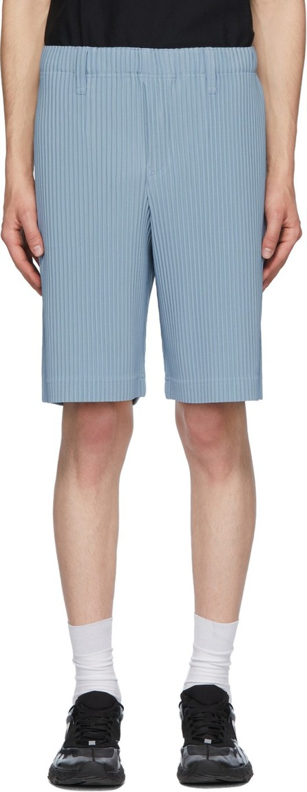 Homme Plissé Issey Miyake Blue Tailored Pleats 2 Shorts