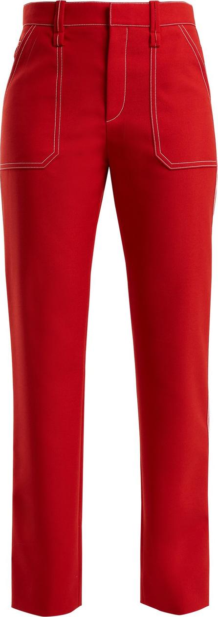 Chloe Contrast-stitch straight-leg trousers