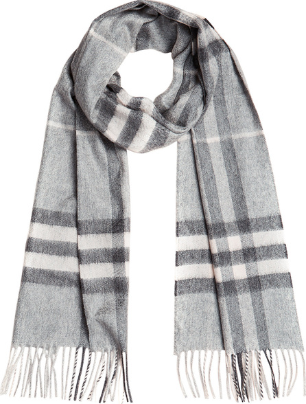 Burberry London England Giant Check Cashmere Scarf