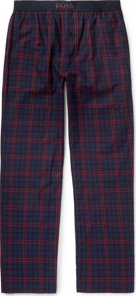 HUGO BOSS Slim-Fit Checked Cotton Pyjama Trousers