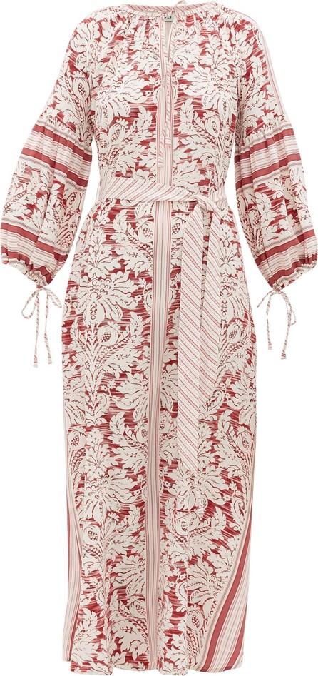 D'Ascoli Southampton-print silk-crepe maxi dress