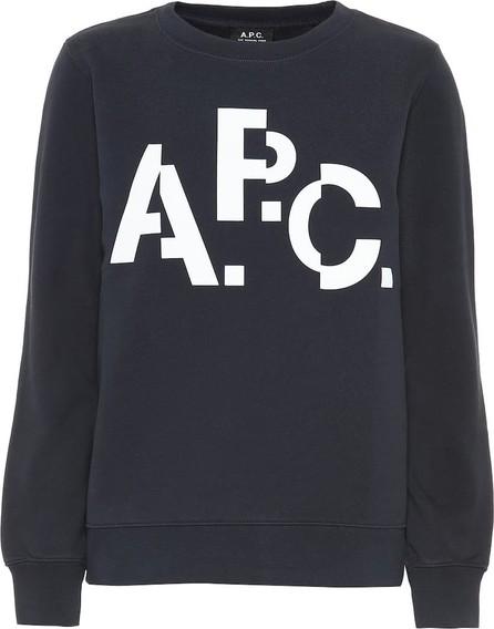 A.P.C. Misaligned cotton sweatshirt