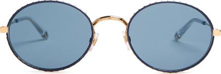 Givenchy Oval-frame metal sunglasses
