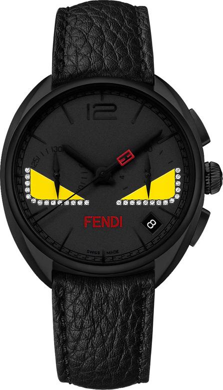 Fendi 40mm Ladies' Monster Eyes Chronograph Watch, Black