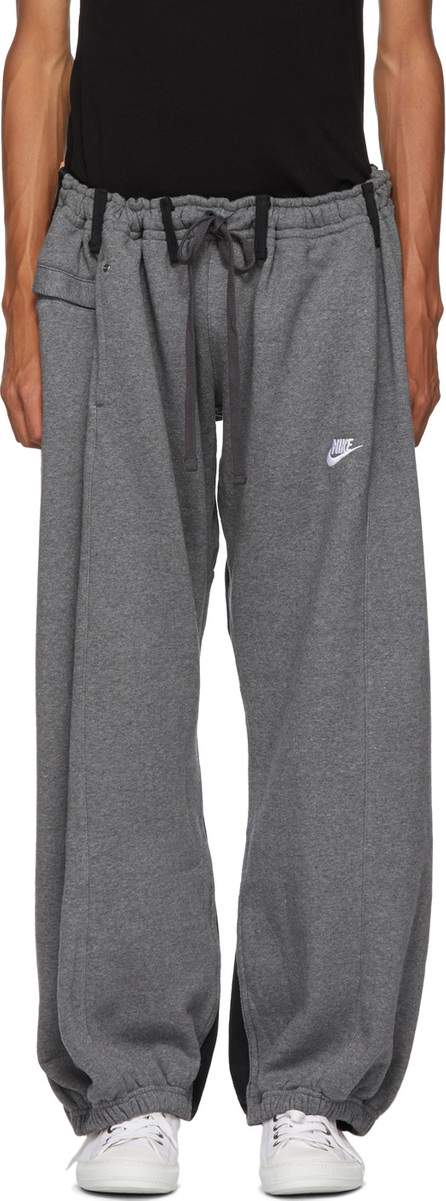 Bless Grey Panelled Overjogging Jean Lounge Pants
