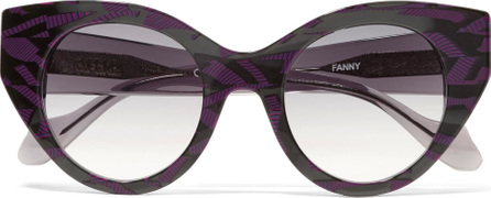 Fendi Fanny cat-eye printed acetate sunglasses