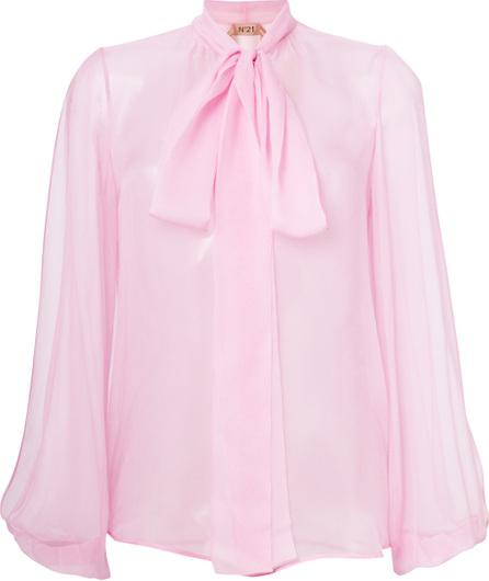 Nº21 Split sleeve pussy-bow blouse