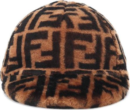 Fendi Shearling baseball cap