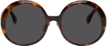 Fendi Tortoiseshell Round Sunglasses