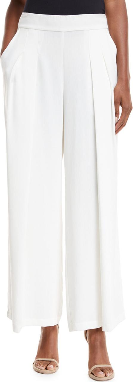 Eileen Fisher Corded Wide-Leg Drama Pants