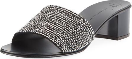 Giuseppe Zanotti Jeweled Single-Band Slide Sandal