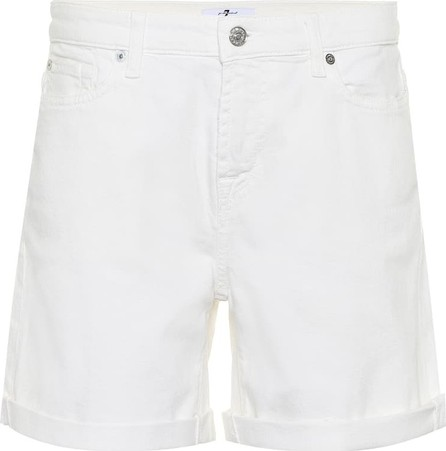 7 For All Mankind Mid-rise cotton twill shorts
