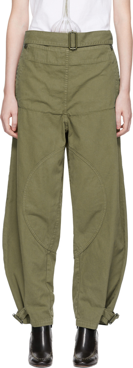 J.W.Anderson Green Fold Front Utility Trousers