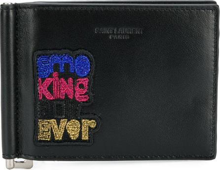 Saint Laurent Smoking Forever wallet