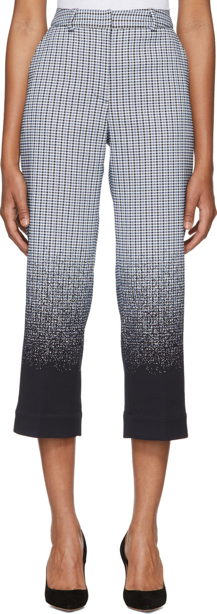 Erdem Blue & White Preston Trousers