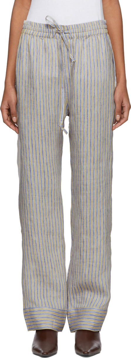 Acne Studios Beige & Blue Stripe Marceline Sketch Lounge Pants