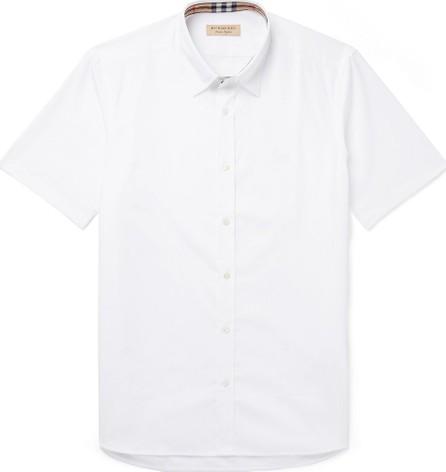Burberry London England Cotton-Blend Poplin Shirt