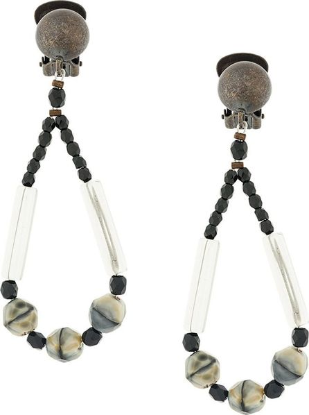 Armani Collezioni beaded drop clip-on earrings