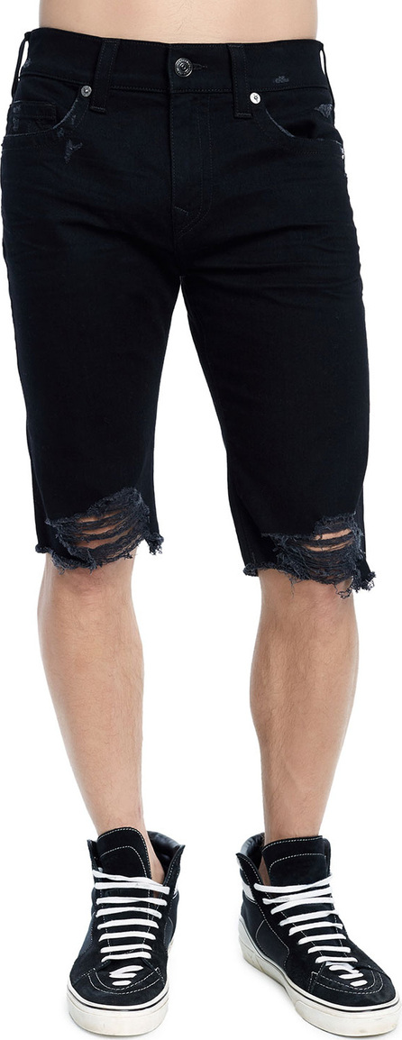 True Religion Men's Rocco Skinny Distressed Denim Shorts