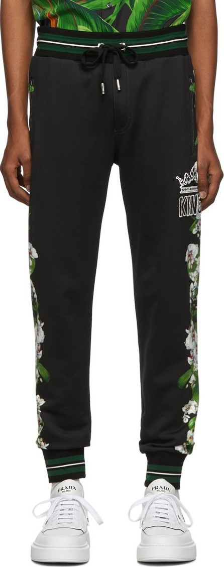 Dolce & Gabbana Black 'King' Lounge Pants