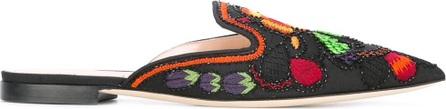 Alberta Ferretti embroidered floral mules