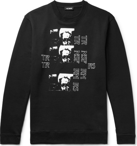 Raf Simons Printed Loopback Cotton-Jersey Sweatshirt