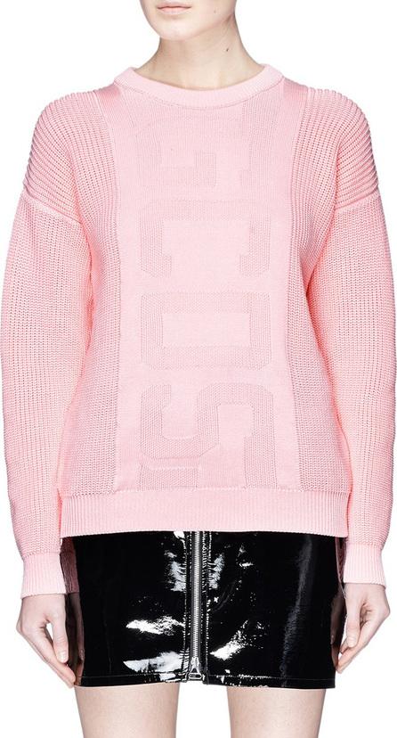 Gcds Logo intarsia fisherman sweater