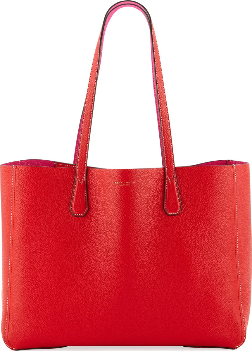 f2d1d03b3b70 Tory Burch Phoebe Leather Tote Bag in Red - mkt