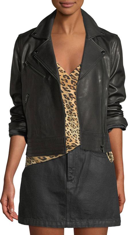 FRAME DENIM Zip-Front Slim Leather Moto Jacket