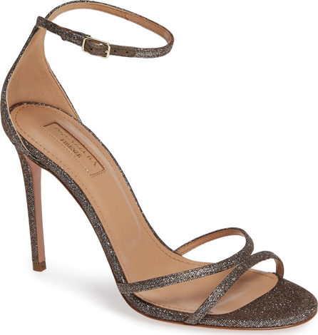 Aquazzura Purist Metallic Ankle Strap Sandal