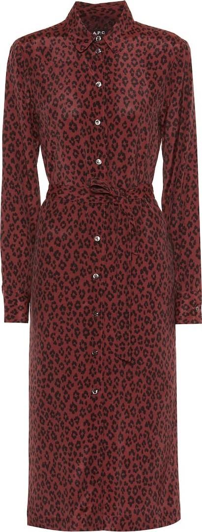 A.P.C. Karen leopard-print dress