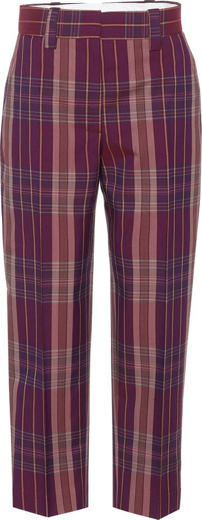 Acne Studios Trea plaid wool-blend trousers