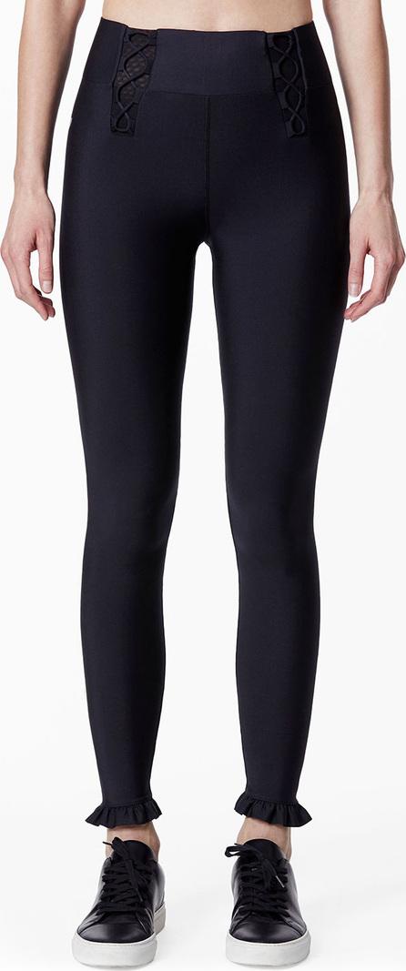 Carbon 38 Lace-Up Ruffle Leggings