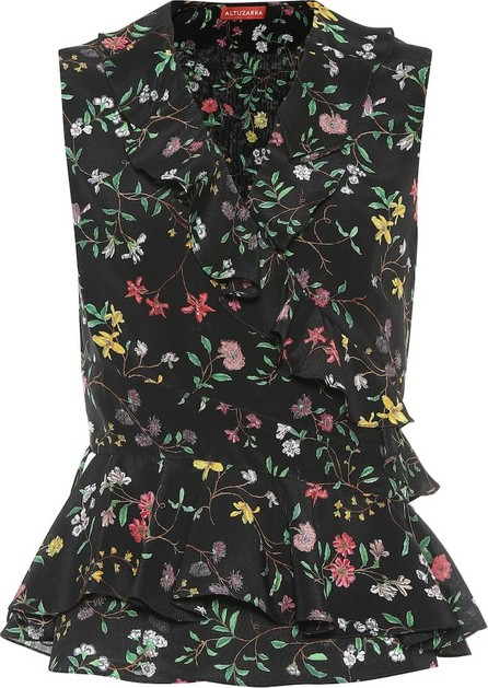 Altuzarra Depeche floral silk top