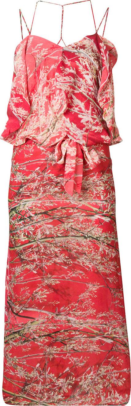 Anntian Branch printed dress