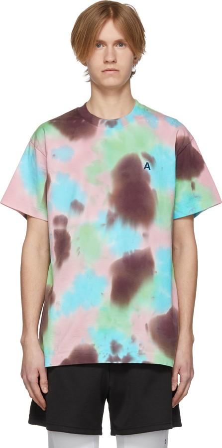 Ambush SSENSE Exclusive Pink 'A' Waves Tie-Dye T-Shirt