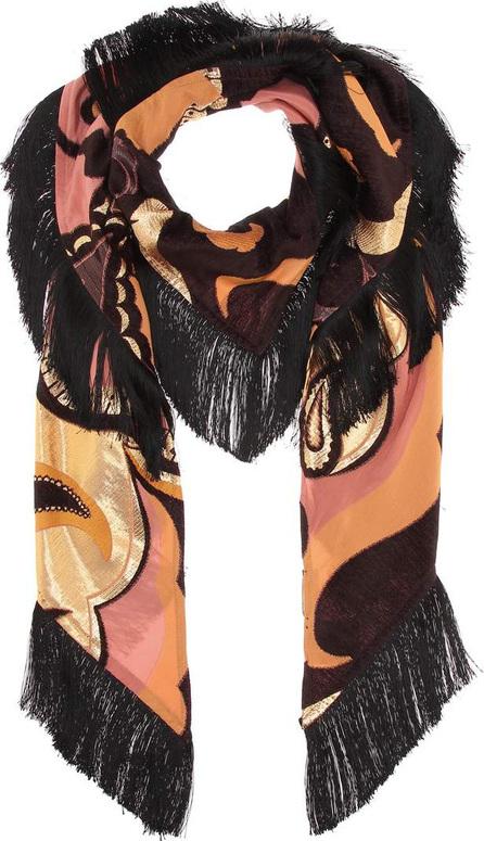 Etro Metallic silk-blend scarf