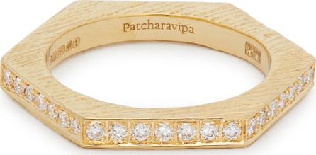 Patcharavipa 18kt gold and diamond-pavé hexagon ring